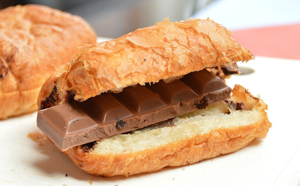 Chocolate croissant, and make it a double!
