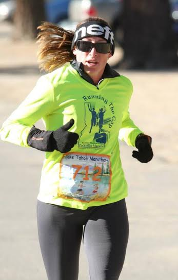 Vanessa Kline at Lake Tahoe Marathon